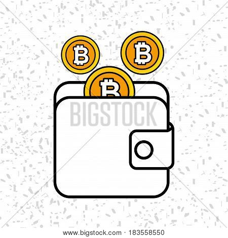Bitcoins investment business icons vector illustration design