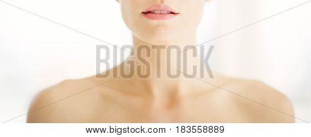 Woman Shoulders In Warm Light