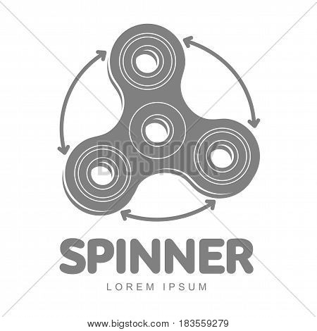 Hand spinner vector logo template for your design. Hand spinner tricks badges, labels, banners, advertisements, brochures, business templates. Vector illustration isolated on white background
