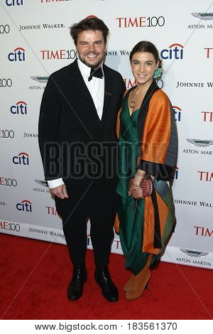 Architect Bjarke Ingels (L) and Ruth Otero attend the Time 100 Gala at Frederick P. Rose Hall on April 25, 2017 in New York City.