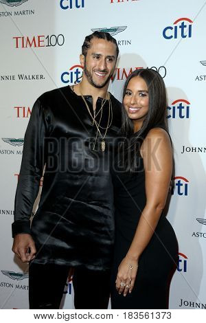 NFL player Colin Kaepernick (L) and Nessa attend the Time 100 Gala at Frederick P. Rose Hall on April 25, 2017 in New York City.
