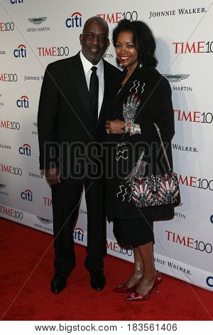Bernard J. Tyson and Denise Bradley-Tyson attends the Time 100 Gala at Frederick P. Rose Hall on April 25, 2017 in New York City.