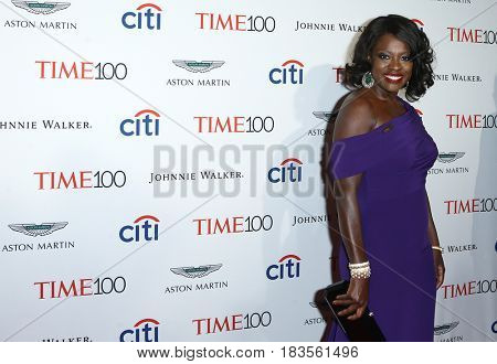 Actress Viola Davis attends the Time 100 Gala at Frederick P. Rose Hall on April 25, 2017 in New York City.