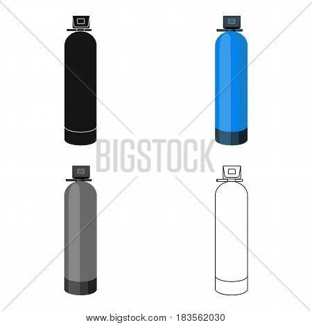 Water filter machine icon in cartoon design isolated on white background. Water filtration system symbol stock vector illustration.