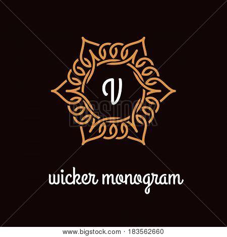 Wicker Monogram