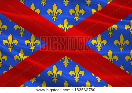 Flag of Langres is a commune in northeastern France. It is a subprefecture of the department of Haute-Marne in the region of Grand Est. 3d illustration