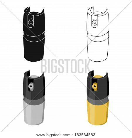 Gas canister icon cartoon. Single weapon icon from the big ammunitio, arms cartoon.