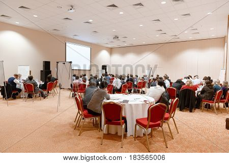 Conference hall, business conference and training in the hall