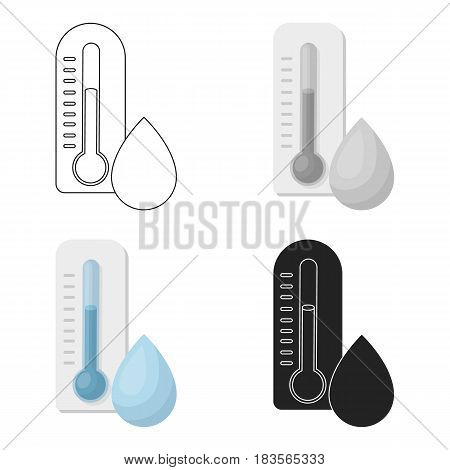 Damp day icon in cartoon style isolated on white background. Weather symbol vector illustration.