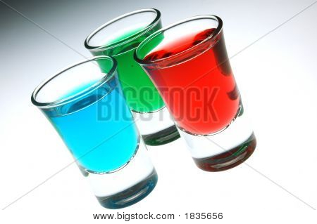 Cherry Mint And Peppermint Shots