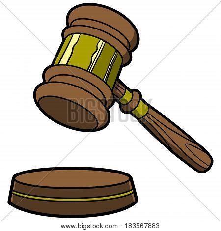 A vector illustration of a Judge Gavel.