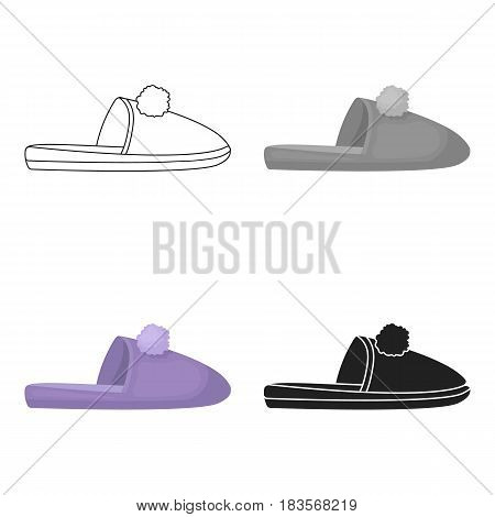 Slippers icon in cartoon style isolated on white background. Shoes symbol vector illustration.