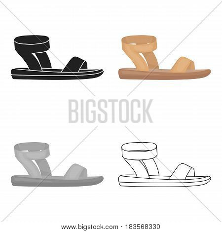 Woman sandals icon in cartoon style isolated on white background. Shoes symbol vector illustration.