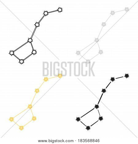 Ursa Major icon in cartoon style isolated on white background. Space symbol vector illustration.