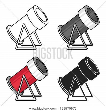 Snow cannon icon in cartoon style isolated on white background. Ski resort symbol stock vector illustration.