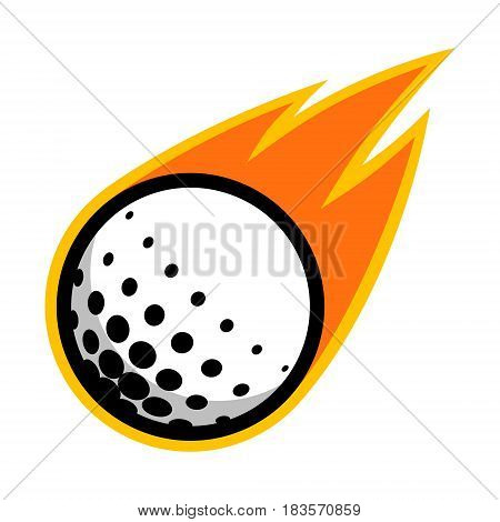 Golf outdoor sport ball comet fire tail flying logo