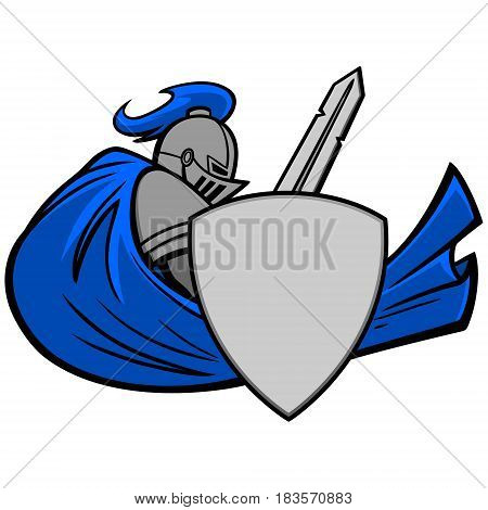 A vector illustration of a Medieval Knight.