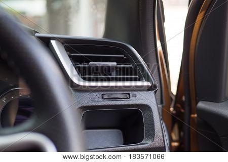 Air conditioner in the car interior black
