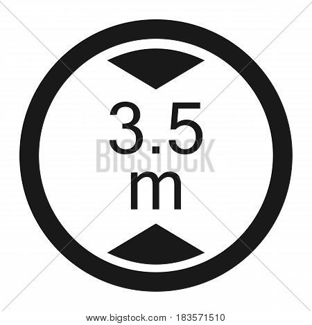 Limiting height prohibition line icon, Traffic and road sign, vector graphics, a solid pattern on a white background, eps 10.