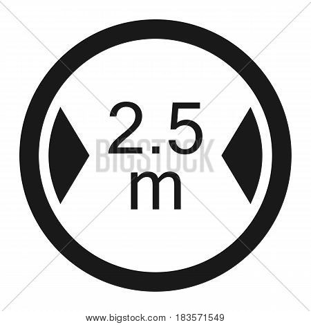 Limiting width line icon, Traffic and road sign, vector graphics, a solid pattern on a white background, eps 10.