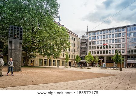 Munich, Germany - August 6, 2016: Central place in memory of the victims of German National Socialism in the capital of Bavaria