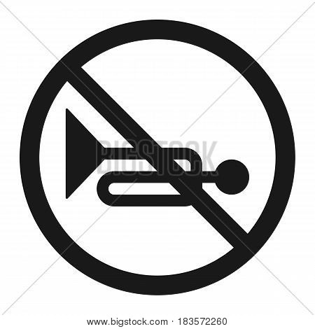No horn prohibited sign line icon, Traffic and road sign, vector graphics, a solid pattern on a white background, eps 10.