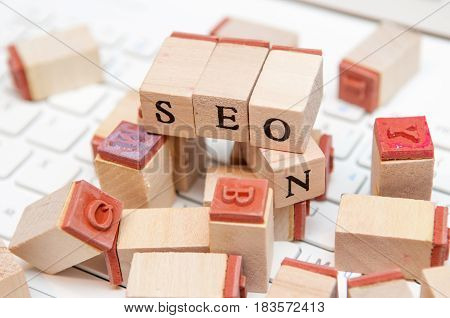 seo strategy and internet marketing success background