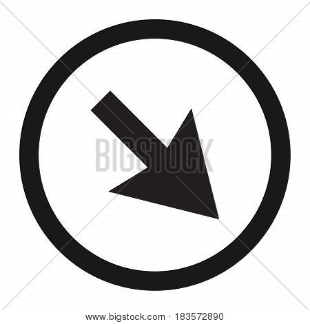 detour to the right sign line icon, Traffic and road sign, vector graphics, a solid pattern on a white background, eps 10
