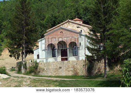 Panoramic view of medieval Sukovo Monastery Assumption of Virgin Mary, Serbia