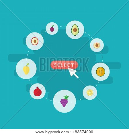 Flat Cluster Mango Vector Photo Free Trial Bigstock
