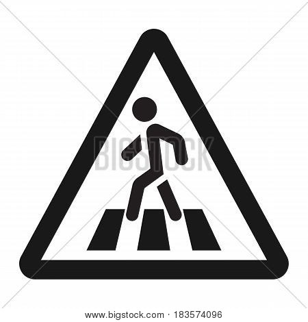 Pedestrian crossing and crosswalk sign line icon, Traffic and road sign, vector graphics, a solid pattern on a white background, eps 10