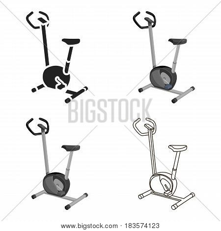 Exercise bike icon cartoon. Single sport icon from the big fitness, healthy, workout cartoon.