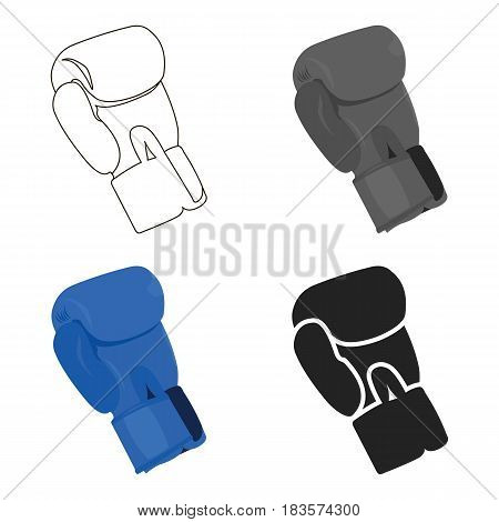 Boxing glove icon cartoon. Single sport icon from the big fitness, healthy, workout cartoon.