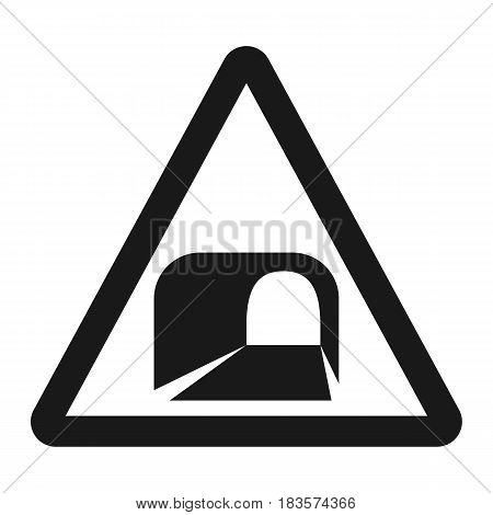 Tunnel ahead sign line icon, Traffic and road sign, vector graphics, a solid pattern on a white background, eps 10