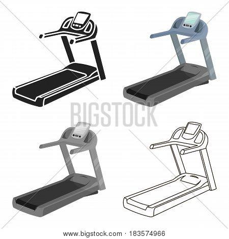 Treadmill icon cartoon. Single sport icon from the big fitness, healthy, workout cartoon.