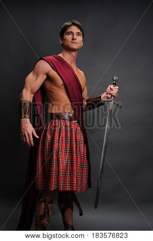 The sexy highlander is ready for his epic battle.