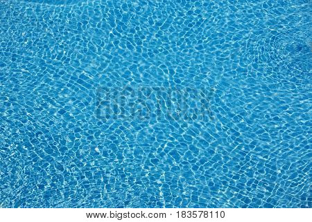 Pool surface background with ripples