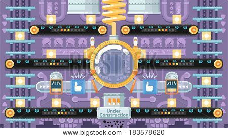 Industrial factory buildings. Factory Landscape. Vector flat illustration