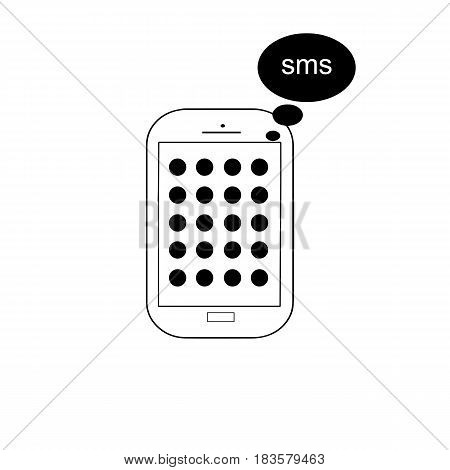 mobile phone vector - isolated on white background