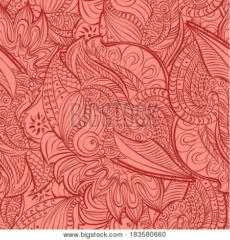 Hand painted watercolor vector flowerseamless pattern background