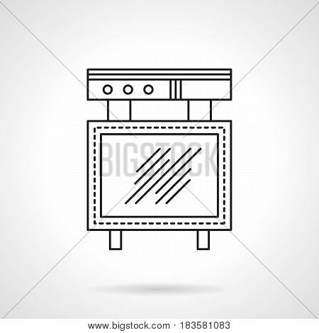 Blank advertising element with light-box. Advert board symbol. Flat black line vector icon.
