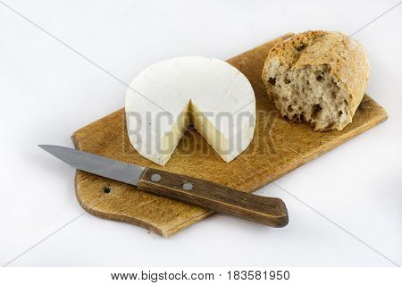 Fresh Crusty Bread On White Isolated Background