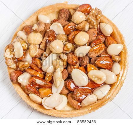 Dried Fruit Cake With Almonds, Nuts And Hazelnuts