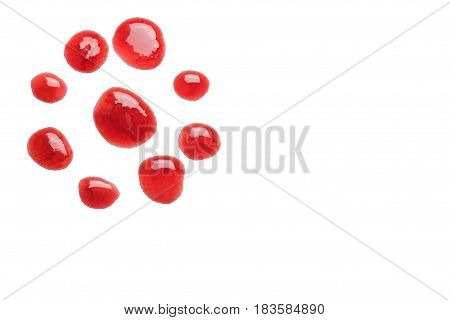 jam red currant slatko isolated on white