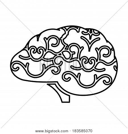 storm brain isolated icon vector illustration design