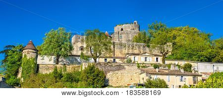 Chateau de Langoiran, a medieval castle in Gironde department of France