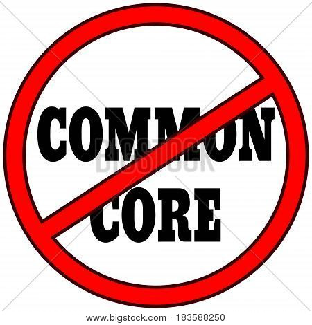A vector illustration of a Common Core warning sign.