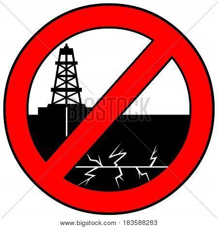 A vector illustration of a Fracking warning sign.