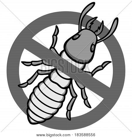A vector illustration of a Termite warning sign.