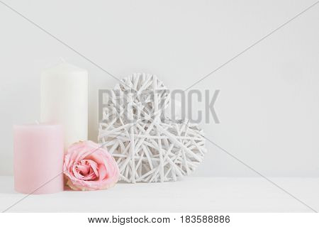 Wall Mockup Styled Stock Photograph